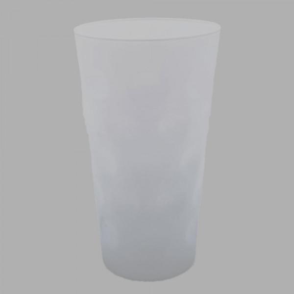 Farbiges Dubbeglas weiß, ganz gefärbt, 0,5 Liter