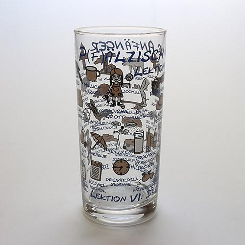 Schoppenglas 'Pfälzisch für Anfänger', blau, 0,5 Liter