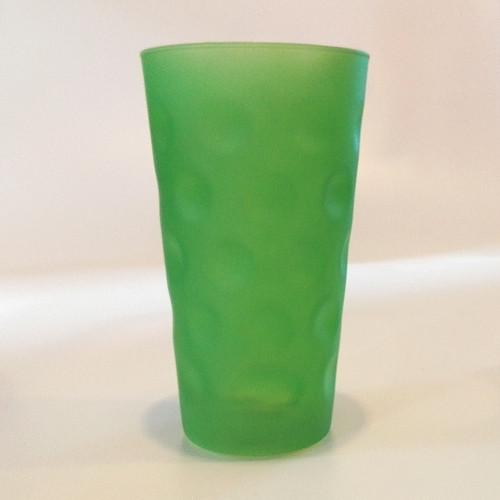 Farbiges Dubbeglas grün, matt, 0,5 Liter
