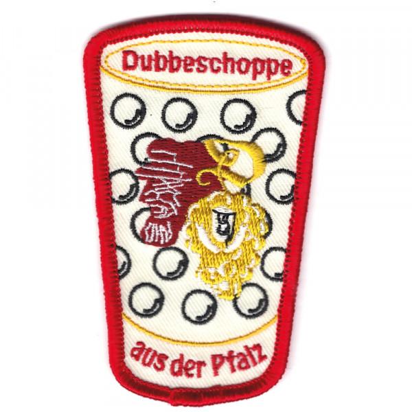 """Abzeichen """"Dubbeschoppe aus der Pfalz"""""""