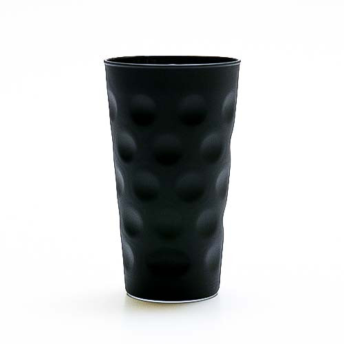 Farbiges Dubbeglas schwarz, matt, 0,5 Liter