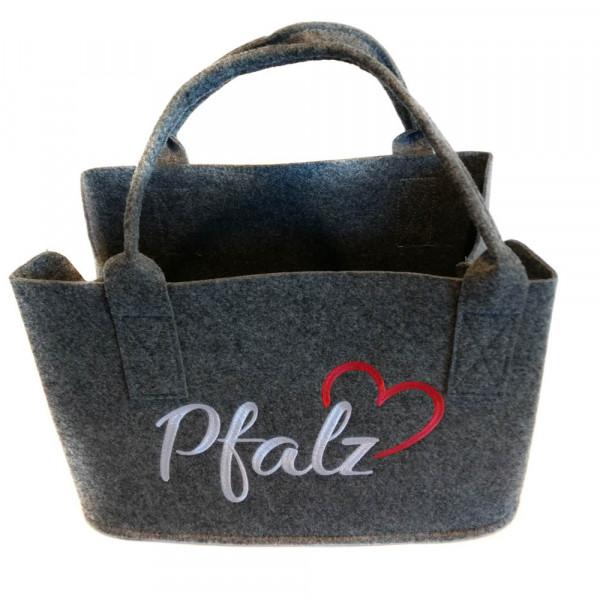 Einkaufstasche aus Filz mit Pfalzliebe
