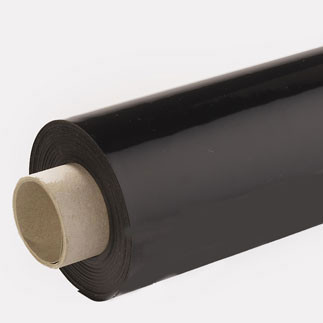 Lackfolie schwarz (Rollenware) - 130 cm