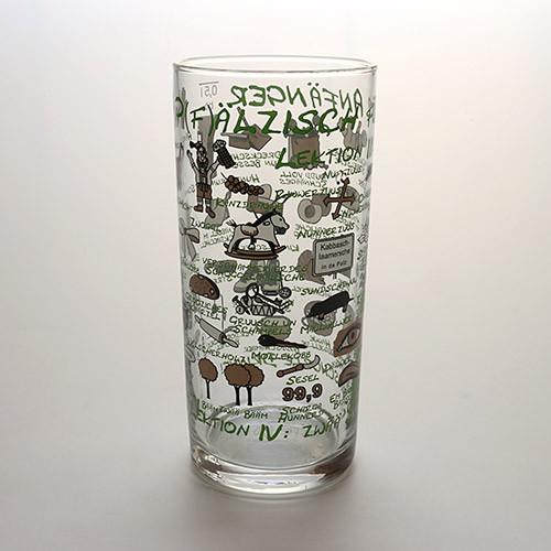 Schoppenglas 'Pfälzisch für Anfänger', grün, 0,5 Liter