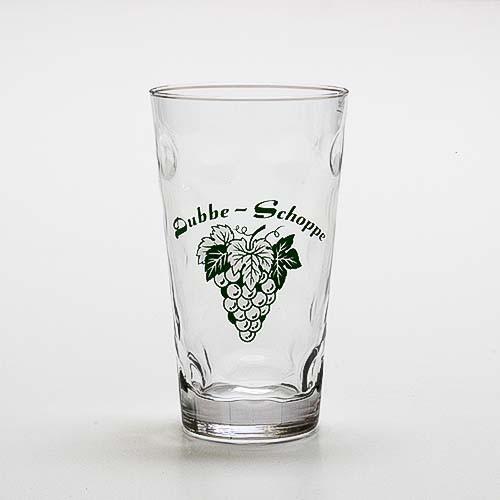 """Dubbeglas """"Dubbe-Schoppe und Rebe"""", 0,5 Liter"""