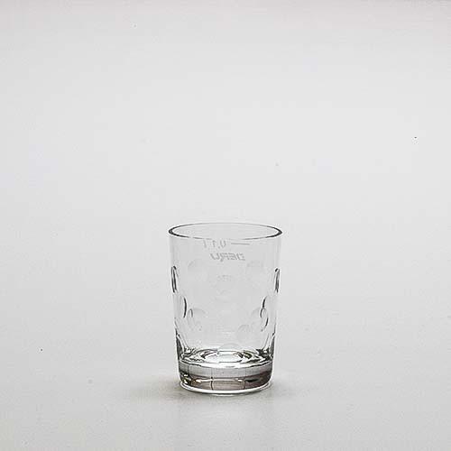 """Dubbeglas """"Kristallglas"""" - handgeschliffen, 0,1 Liter"""