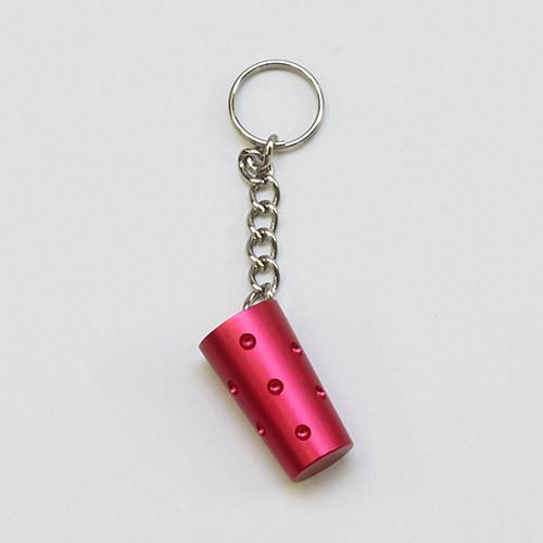 Schlüssel-Dubbeanhänger, rot
