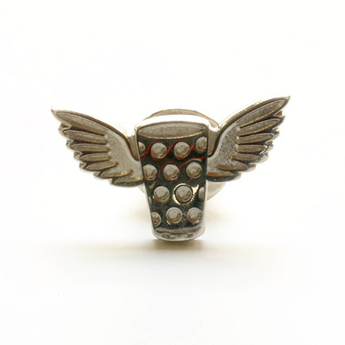 Pin Dubbewings, silber