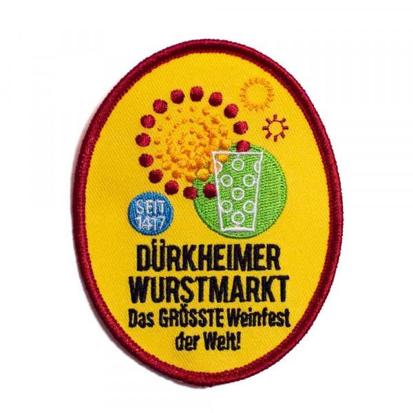 """Abzeichen """"Dürkheimer Wurstmarkt Riesenrad"""" groß"""
