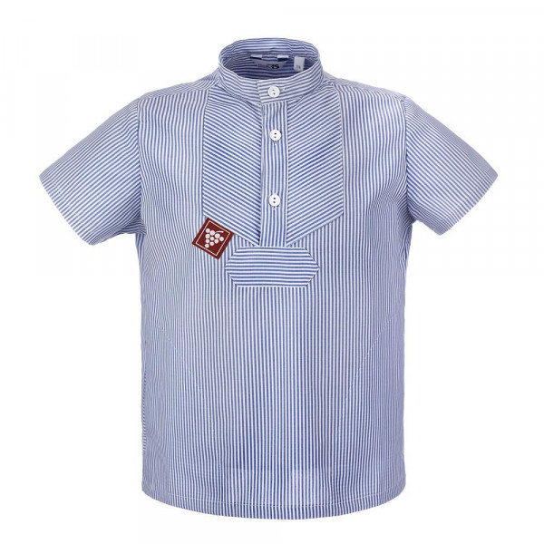 Sommer Kinder-Winzerhemd blau-weiß gestreift