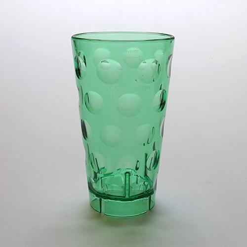 Dubbeglas aus Kunststoff, grün, unzerbrechlich, 0,5 Liter
