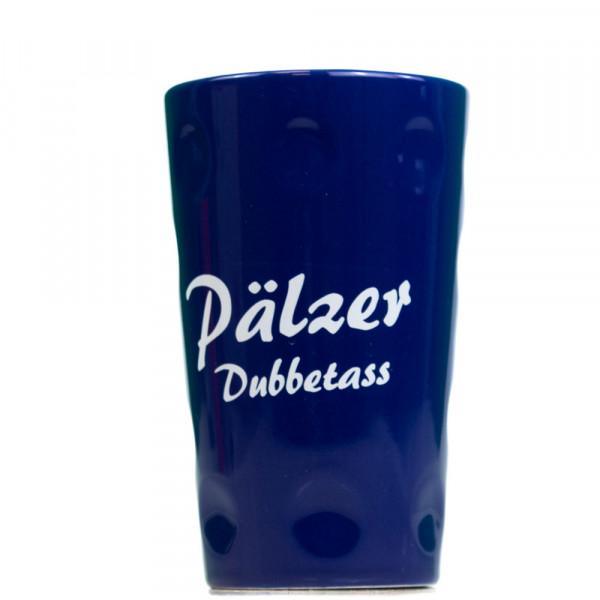 """Dubbetasse mit Aufdruck """"Pälzer Dubbetass"""", blau, 0,2 Liter"""