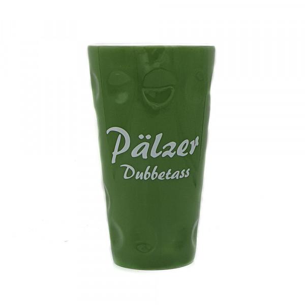 """Dubbetasse mit Aufdruck """"Pälzer Dubbetass"""", grün, 0,5 Liter"""