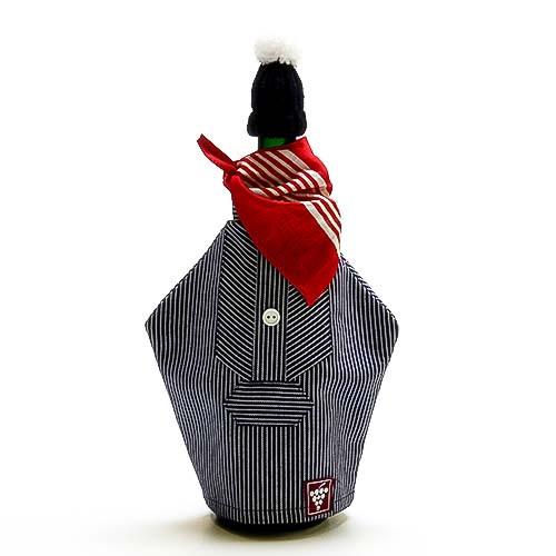 Flaschenhemd mit Mütze und Tuch