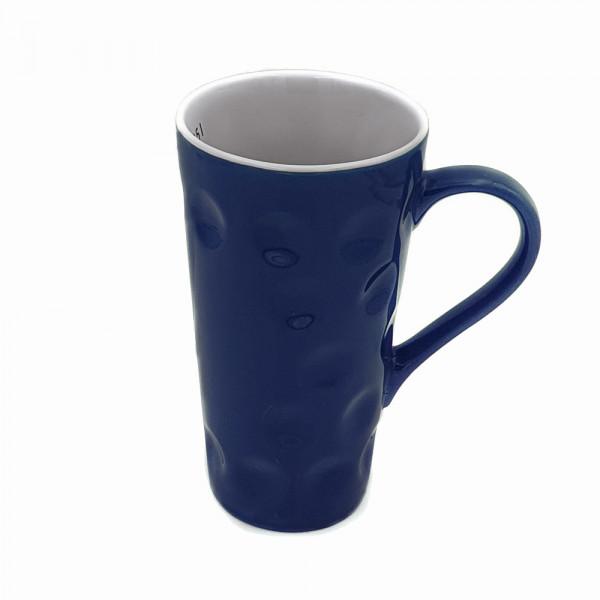 Dubbetasse, blau, 0,5 Liter