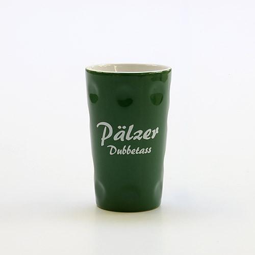 """Dubbetasse mit Aufdruck """"Pälzer Dubbetass"""", grün, 0,2 Liter"""