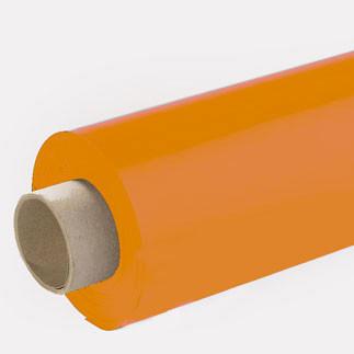 Lackfolie hellorange (Rollenware) - 65 cm